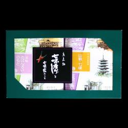 お年賀お勧め商品「京の香り2ヶ入(ミックス豆袋(七味・山椒)、おばんざいのもと小)」