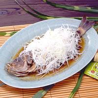 魚の蒸しもの・山椒風味